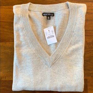 J.Crew Factory Cotton V-Neck Sweater